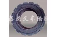 14×4-8钢圈压配式实心轮胎